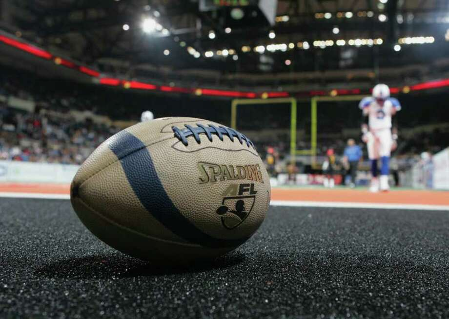 The Arena Football League is known for high-scoring games because of its smaller field and variations to conventional football rules. For instance, punting is not allowed. Photo: Jim McIsaac/Getty Images / 2005 Getty Images