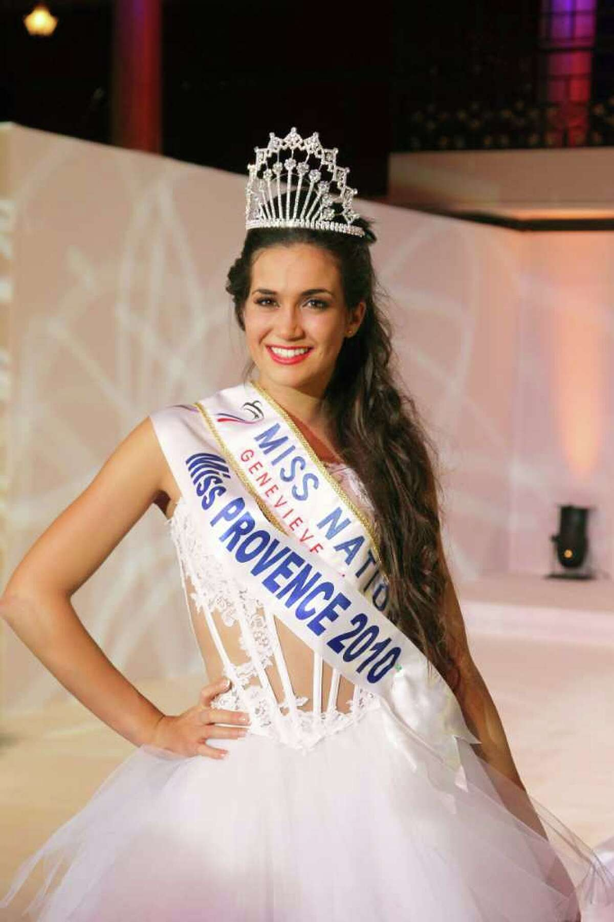 Miss Provence Barbara Morel, 19, smiles after being crowned Miss Nationale 2011 beauty contest of the