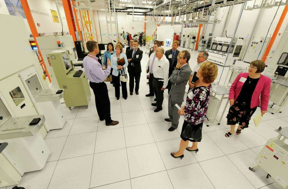 Community College leaders tour the ITDC Lab at the Global Foundries offices in Malta, N.Y. June 23, 2011. (Skip Dickstein/ Times Union archive)