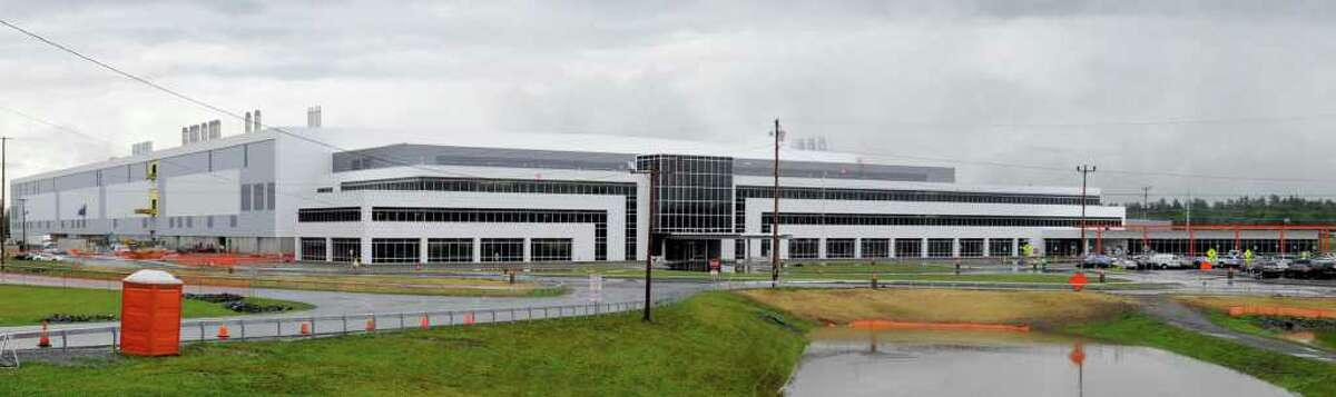 Exterior view of the Global Foundries plant in Malta, N.Y. June 23, 2011. (Skip Dickstein/ Times Union archive)