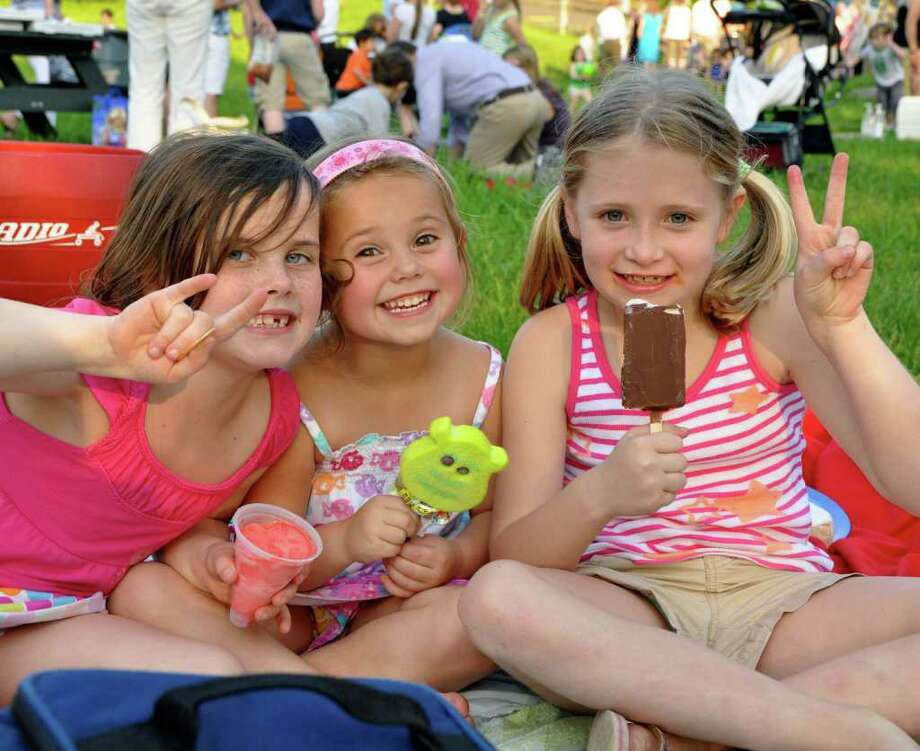 Children enjoy ice cream at last year's Nature-Ppalooza. Photo: Contributed Photo / New Canaan News