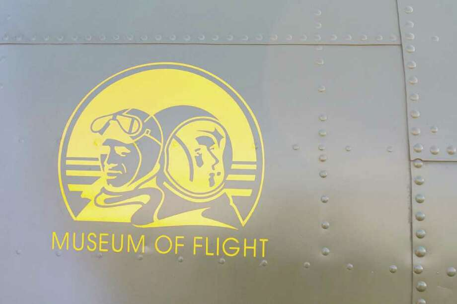 A Museum of Flight decal adorns the museum's B-17 on Thursday, June 30, 2011 in Seattle. Photo: JOE DYER / SEATTLEPI.COM