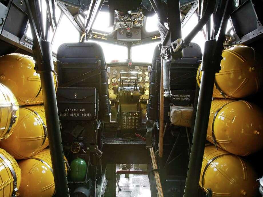 The flight deck of the B-17 is seen on Thursday, June 30, 2011 in Seattle. Photo: JOE DYER / SEATTLEPI.COM