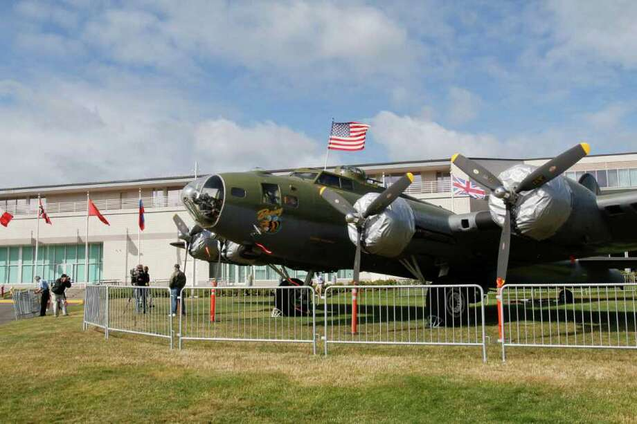The B-17 sits on the east lawn of the Museum of Flight on Thursday, June 30, 2011 in Seattle. The museum plans to start offering limited tours on July 2 and host a celebration of B-17s and