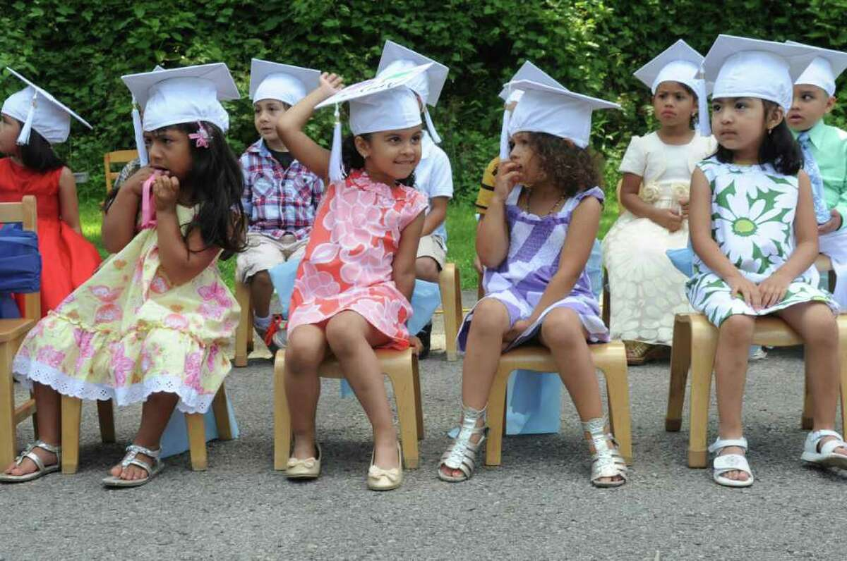 Family Centers' Greenwich Head Start Preschools and Dancing Dolphins School Readiness Classroom held a graduation ceremony to to celebrate 32 students moving on to kindergarten at Armstrong Court on Thursday, June 30, 2011.