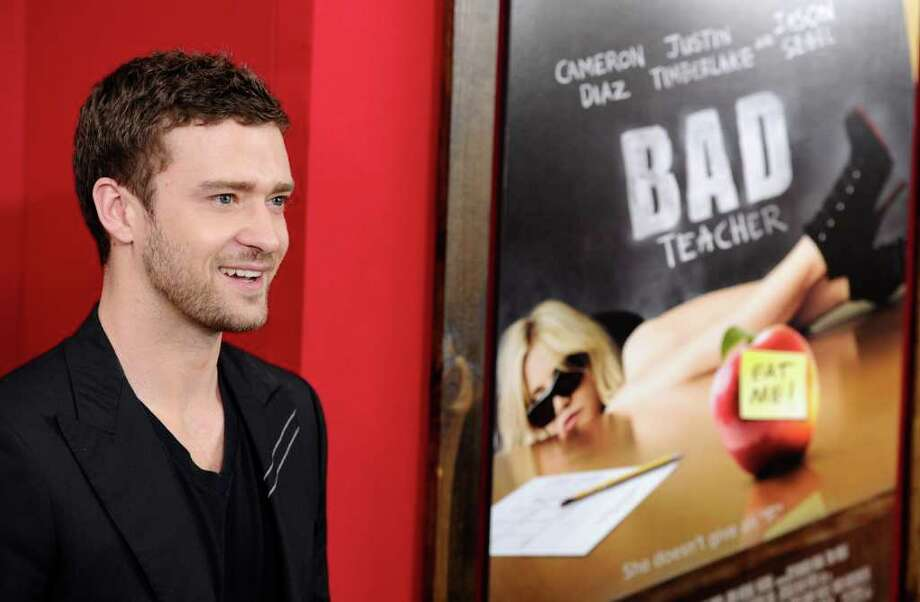 "Actor Justin Timberlake attends the premiere of ""Bad Teacher"" at The Ziegfeld Theater, in New York, on Monday, June 20, 2011. (AP Photo/Peter Kramer) Photo: AP"