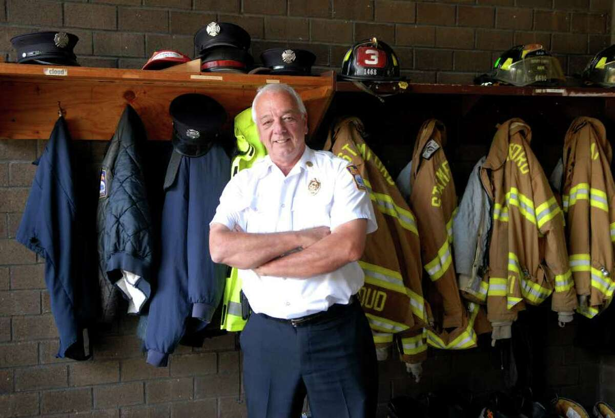 Stamford ( Conn. ) Fire & Rescue Chief Robert McGrath's last day with the department is Friday, he's pictured at the Central Station on Thursday June 30, 2011.