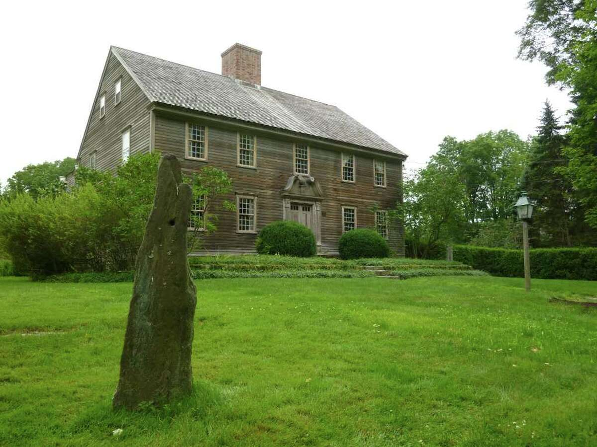 Tom and Nancy Grant's Redding Road property home, constructed as the re-creation of a 1720-era