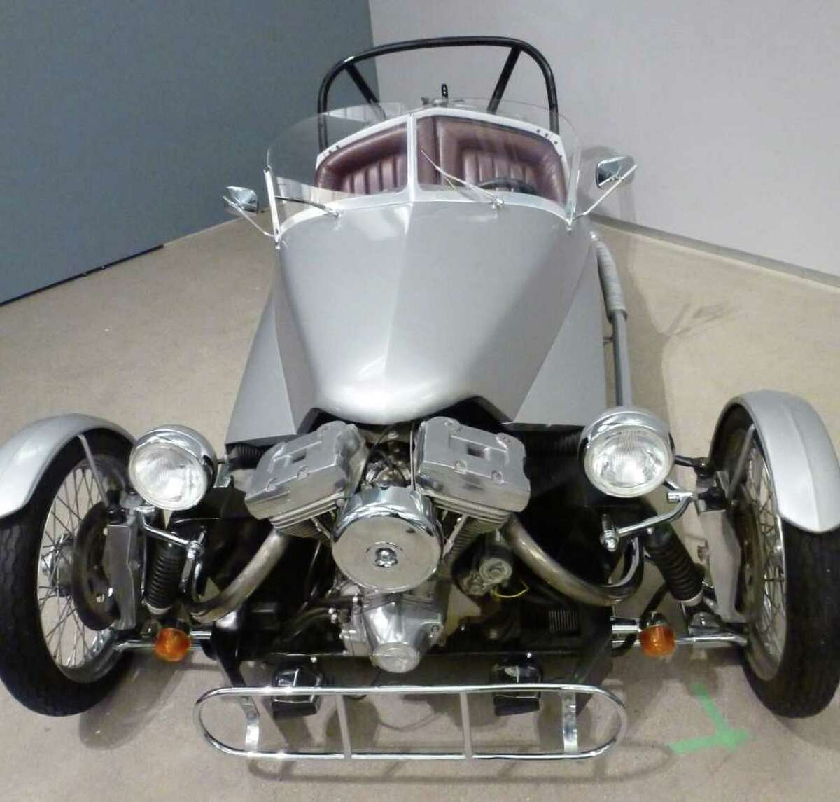 In this June 7, 2011, photo shows a three-wheel vehicle at the Harley-Davidson museum in Milwaukee. The vehicle, called