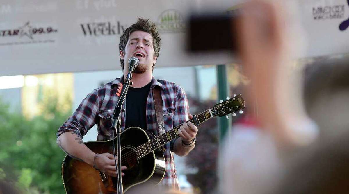 American Idol winner Lee Dewyze perfroms at Alive@Five in Columbus Park in downtown Stamford, CT on Thursday, June 30, 2011.