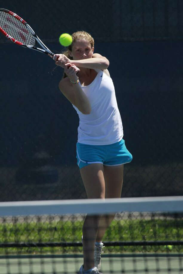 Kimmy Guerin bageled every SWC opponent but one, won the State Open singles title for the second straight year and was the Connecticut Post's All-Area team MVP. However, Guerin received no honors from the SWC because she didn't compete at the SWC individuals. Photo: Contributed Photo