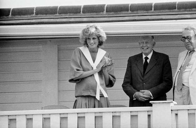 Diana, Princess of Wales,  who is in this photo expecting her second child, watches her husband Prince Charles of England, take part in a polo tournament at  Windsor, England, on July 29, 1984. (AP Photo/John Redman) Photo: John Redman, STF