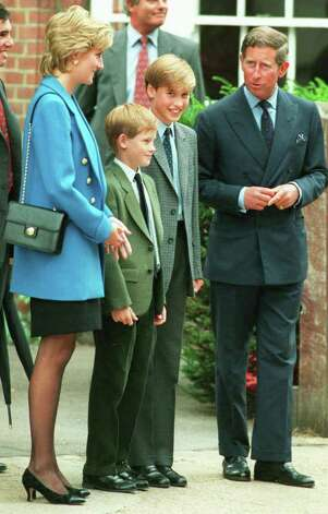 In this Sept. 6, 1995 file photo, Britain's Prince Charles, right, and his estranged wife Princess Diana, second left, flank their children, Harry, third right, and William, at Eton College, west of London. Princess Diana would have been 50 years old on Friday, July 1, 2011, perhaps the only certainty about the course of a life abruptly cut short in a 1997 car crash in Paris, with a new boyfriend, two months past her 36th birthday. (AP Photo/Lynne Sladky, file) Photo: LYNNE SLADKY, STF / AP1995