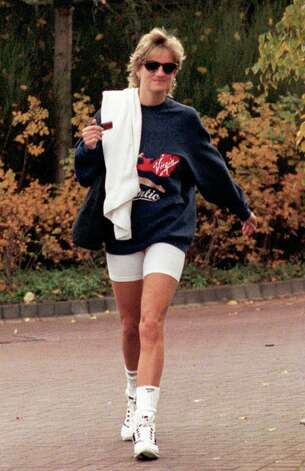 In this Nov. 15, 1995 file photo, Britain's Princess of Wales leaves the Harbour Club Gym, Chelsea, west London, following her daily workout. Princess Diana would have been 50 years old on Friday, July 1, 2011, perhaps the only certainty about the course of a life abruptly cut short in a 1997 car crash in Paris, with a new boyfriend, two months past her 36th birthday. (AP Photo/David Cheskin-pa, file) UNITED KINGDOM OUT: Photo: David Cheskin, SUB / AP1995