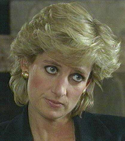 "In this Nov. 20, 1995 file photo, Princess Diana, seen in this television image, listens to a question during an interview taped earlier and aired on the BBC's program Panorama, in this Monday Nov. 20, 1995 file photo. Speaking quietly,the Princess says she desperately wanted her marriage to work and the problems of media pressure and her husband's infidelity caused her to ""escape"" in binges of eating and vomiting. Princess Diana would have been 50 years old on Friday, July 1, 2011, perhaps the only certainty about the course of a life abruptly cut short in a 1997 car crash in Paris, with a new boyfriend, two months past her 36th birthday. (AP Photo/BBC Panorama, file) / AP1995"