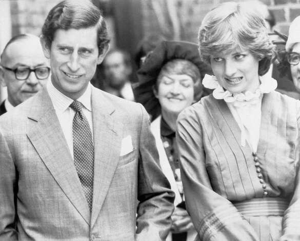 Prince Charles with fiancee Lady Diana Spencer at Broadlands, England in May 1981. (AP Photo/BIPNA)
