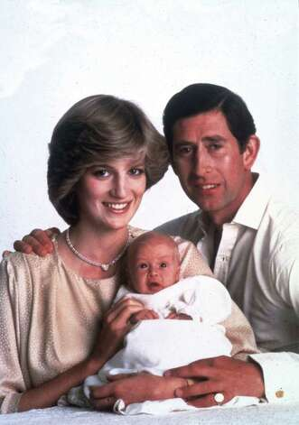 Prince Charles and Princess Diana pose with their 5-week-old son Prince William for a family portrait to comemmorate the Royal couple's wedding anniversary, July 1982.  (AP Photo/Lord Snowdon) Photo: Lord Snowdon, HO