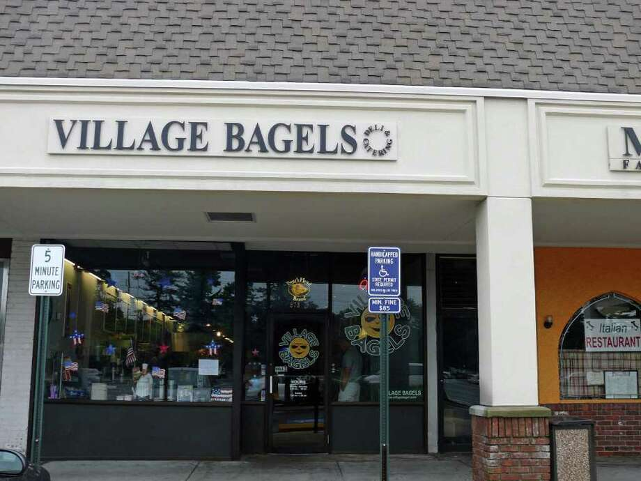 Village Bagels has opened another shop on the Post Road that offers plenty of seating. Photo: Genevieve Reilly / Fairfield Citizen