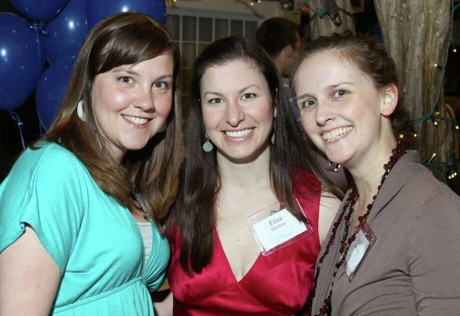 Saratoga Springs, NY - June 23, 2011 - (Photo by Joe Putrock/Special to the Times Union) - (l to r) Saratoga Springboard members Courtney Bissell, Elise Sheehan and Ashley Terwilliger worked the silent auction tables during Project Lift University, a benefit for Franklin Community Center's Project Lift presented by Saratoga Springboard. Photo: Joe Putrock / Joe Putrock