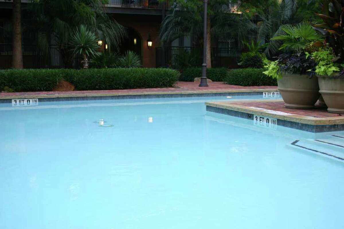 A dip in the pool at dusk is divine.