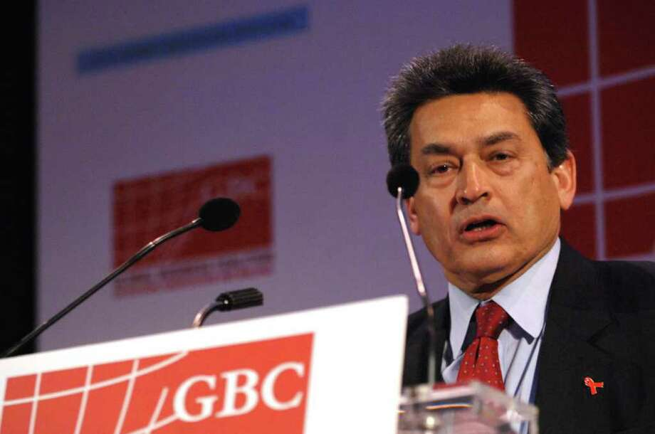 Rajat Gupta appears in this file photo taken in New York City. A Securities and Exchange Commission judge postponed a hearing for the former Goldman Sachs director scheduled to face accusations he shared inside information about the company.  (Photo by Brad Barket/Getty Images for the Global Business Coalition) Photo: Brad Barket, Getty Images / 2007 Getty Images
