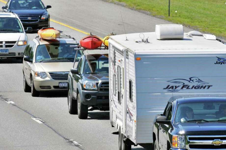 Holiday traffic heads north on the Northway in Clifton Park Friday July 1, 2011. (John Carl D'Annibale / Times Union) Photo: John Carl D'Annibale / 00013722A