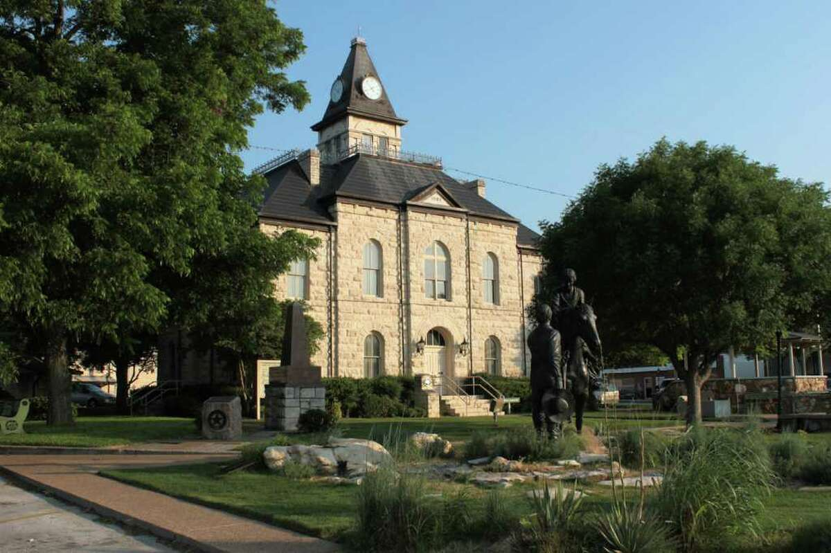 County courthouse in Glen Rose, Texas.
