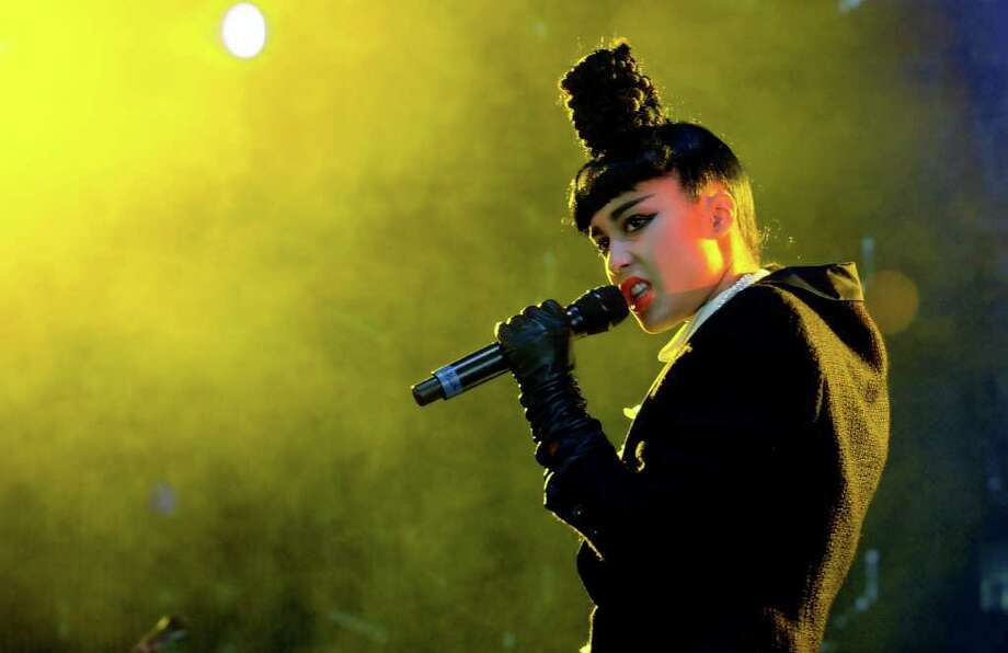 LONDON, ENGLAND - JULY 01:  Natalia Kills performs live on stage during the first day of the Wireless Festival at Hyde Park on July 1, 2011 in London, England. Photo: Jim Dyson, Getty Images / 2011 Getty Images