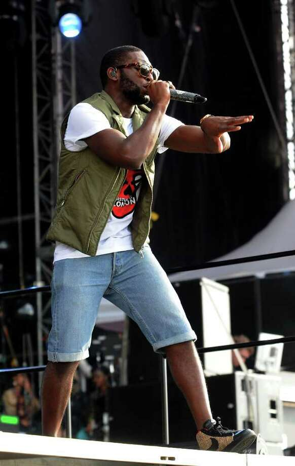 LONDON, ENGLAND - JULY 01:  Tinie Tempah performs live on stage during the first day of the Wireless Festival at Hyde Park on July 1, 2011 in London, England. Photo: Jim Dyson, Getty Images / 2011 Getty Images