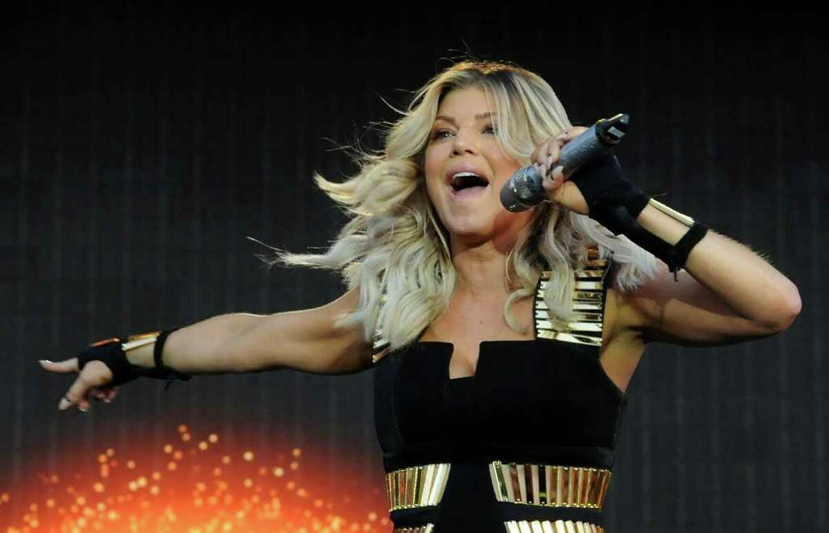 LONDON, ENGLAND - JULY 01: Fergie of The Black Eyed Peas performs live on stage during the first day of the Wireless Festival at Hyde Park on July 1, 2011 in London, England.
