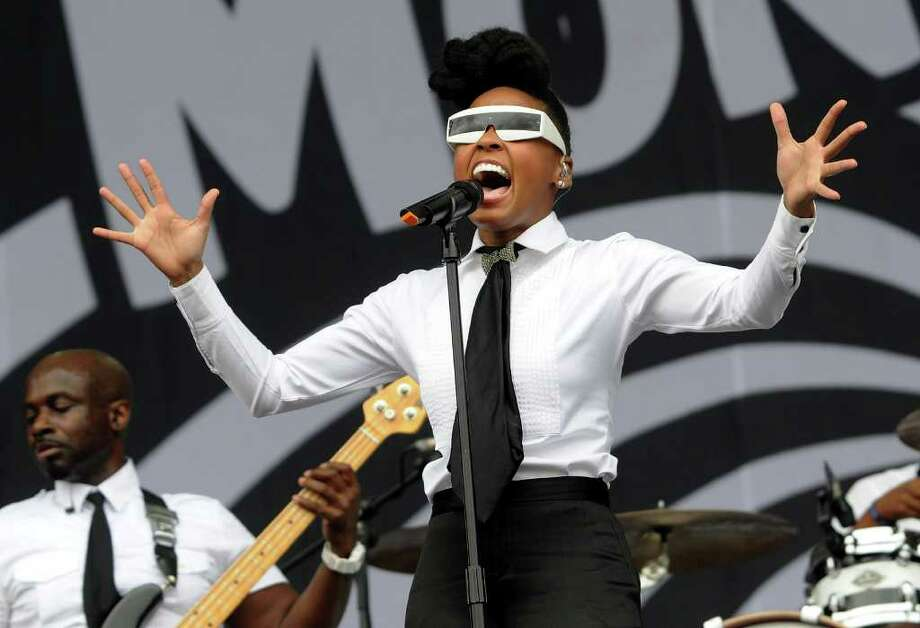 LONDON, ENGLAND - JULY 02:  Janelle Monae performs live on stage during the second day of the Wireless Festival at Hyde Park on July 2, 2011 in London, England. Photo: Jim Dyson, Getty Images / 2011 Getty Images