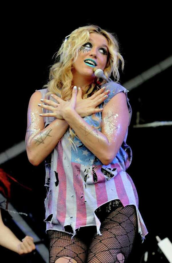 LONDON, ENGLAND - JULY 02:  Ke$ha performs live on stage during the second day of the Wireless Festival at Hyde Park on July 2, 2011 in London, England. Photo: Jim Dyson, Getty Images / 2011 Getty Images