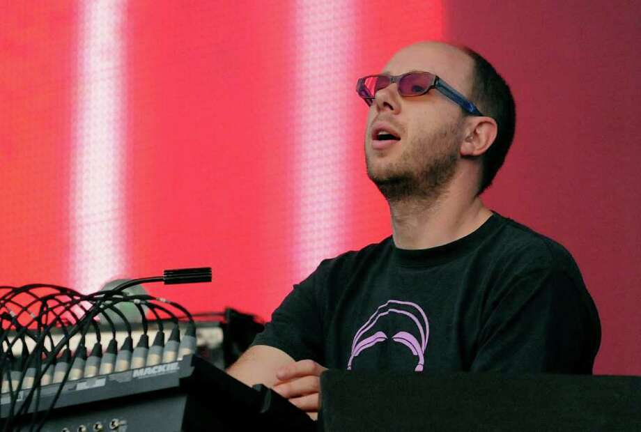 LONDON, ENGLAND - JULY 02:  Tom Rowlands of The Chemical Brothers performs live on stage during the second day of the Wireless Festival at Hyde Park on July 2, 2011 in London, England. Photo: Jim Dyson, Getty Images / 2011 Getty Images