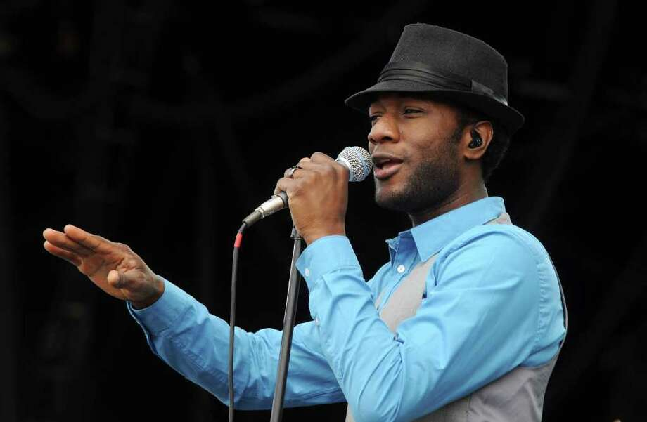 PADDOCK WOOD, UNITED KINGDOM - JULY 03: Aloe Blacc performs at Hop Farm festival at The Hop Farm on July 3, 2011 in Paddock Wood, England. Photo: Stuart Wilson, Getty Images / 2011 Getty Images