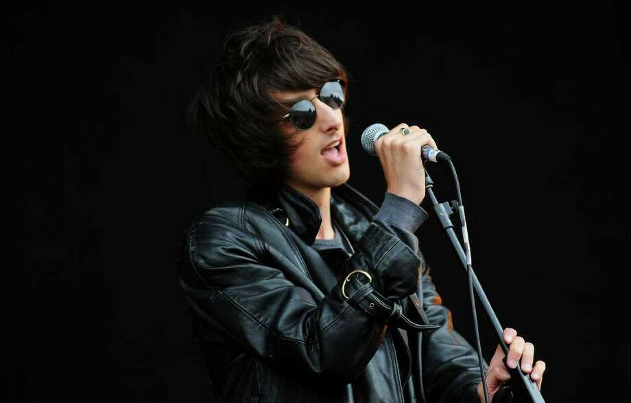 LONDON, ENGLAND - JULY 03:  Singer Faris Badwan of The Horrors performs live on stage during the third day of the Wireless Festival at Hyde Park on July 3, 2011 in London, England. Photo: Jim Dyson, Getty Images / 2011 Getty Images