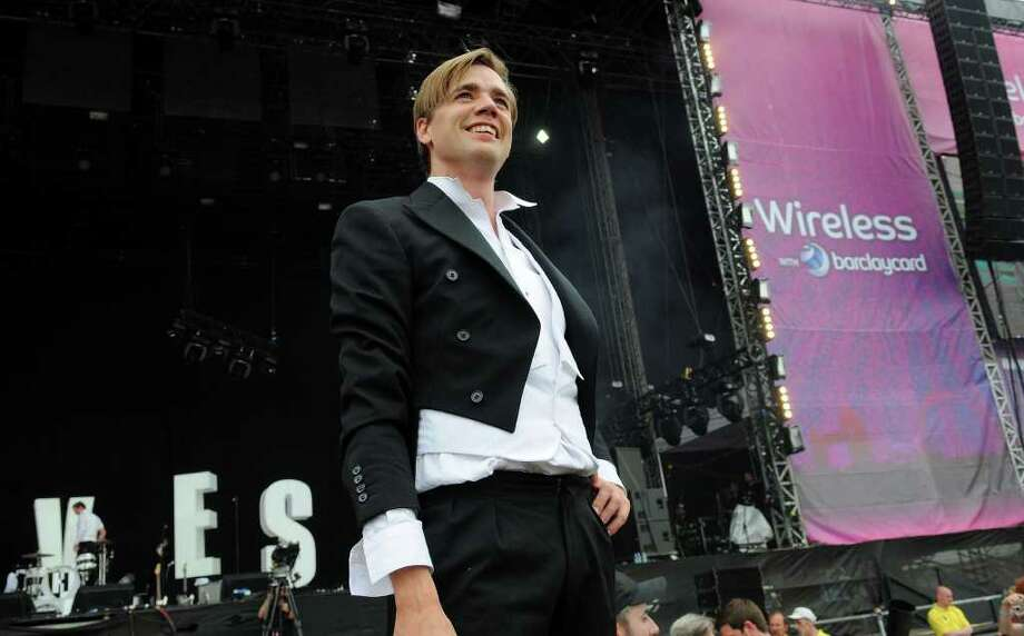 LONDON, ENGLAND - JULY 03:  Howlin' Pelle Almqvist of The Hives performs live on stage during the third day of the Wireless Festival at Hyde Park on July 3, 2011 in London, England. Photo: Jim Dyson, Getty Images / 2011 Getty Images