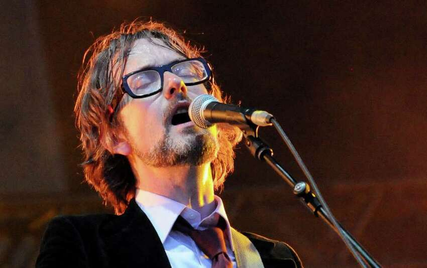 LONDON, ENGLAND - JULY 03: Jarvis Cocker of Pulp performs live on stage during the third day of the Wireless Festival at Hyde Park on July 3, 2011 in London, England.