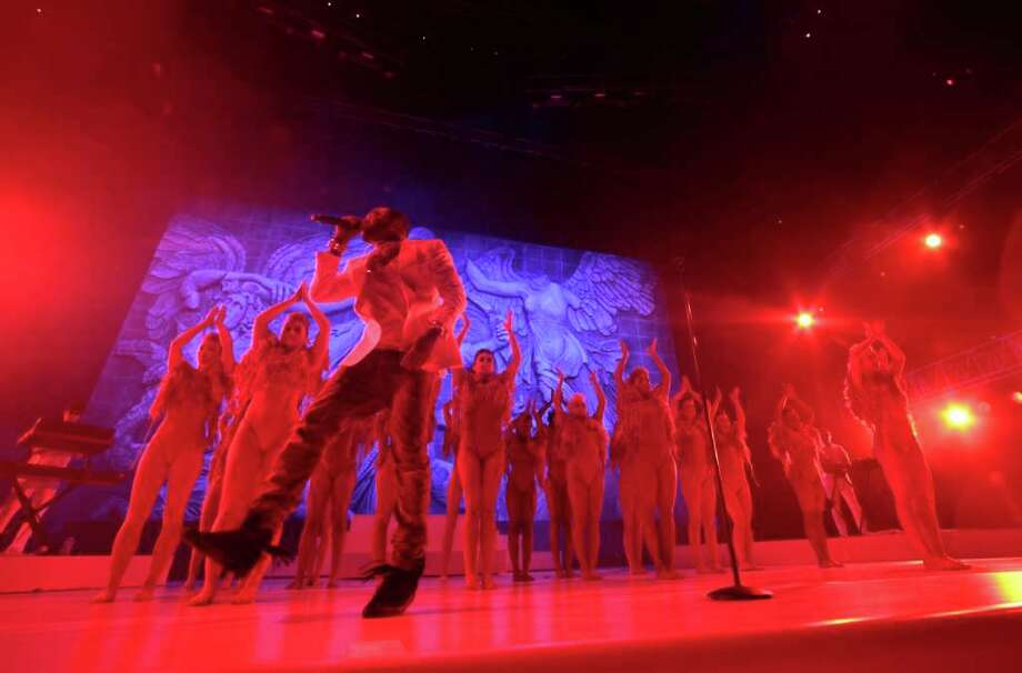 Kanye West performs at the 2011 Essence Music Festival in New Orleans, Saturday, July 2, 2011. Photo: AP
