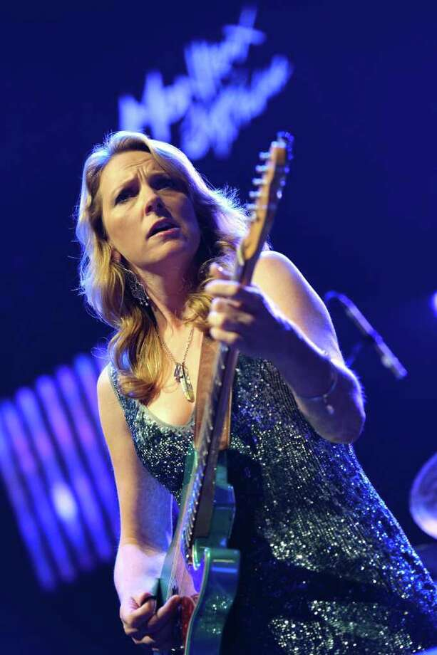 In this photo made available Sunday, July 3, 2011, U.S. blues singer Susan Tedeschi performs on the Stravinski Hall stage during the 45th Montreux Jazz Festival, in Montreux, Switzerland, Saturday, July 2, 2011. (AP Photo/Keystone, Laurent Gillieron) GERMANY OUT - AUSTRIA OUT Photo: AP