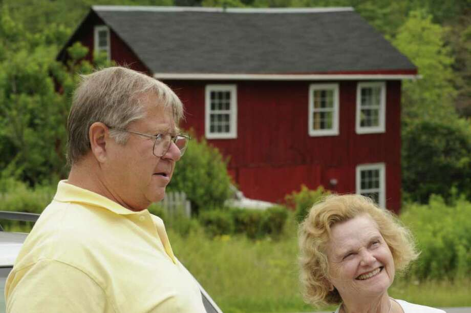 Donald Kritzer and Nancy Paterson of Hunter at The Berry Patch in Stephentown, NY Friday July 1, 2011. ( Michael P. Farrell/Times Union ) Photo: Michael P. Farrell
