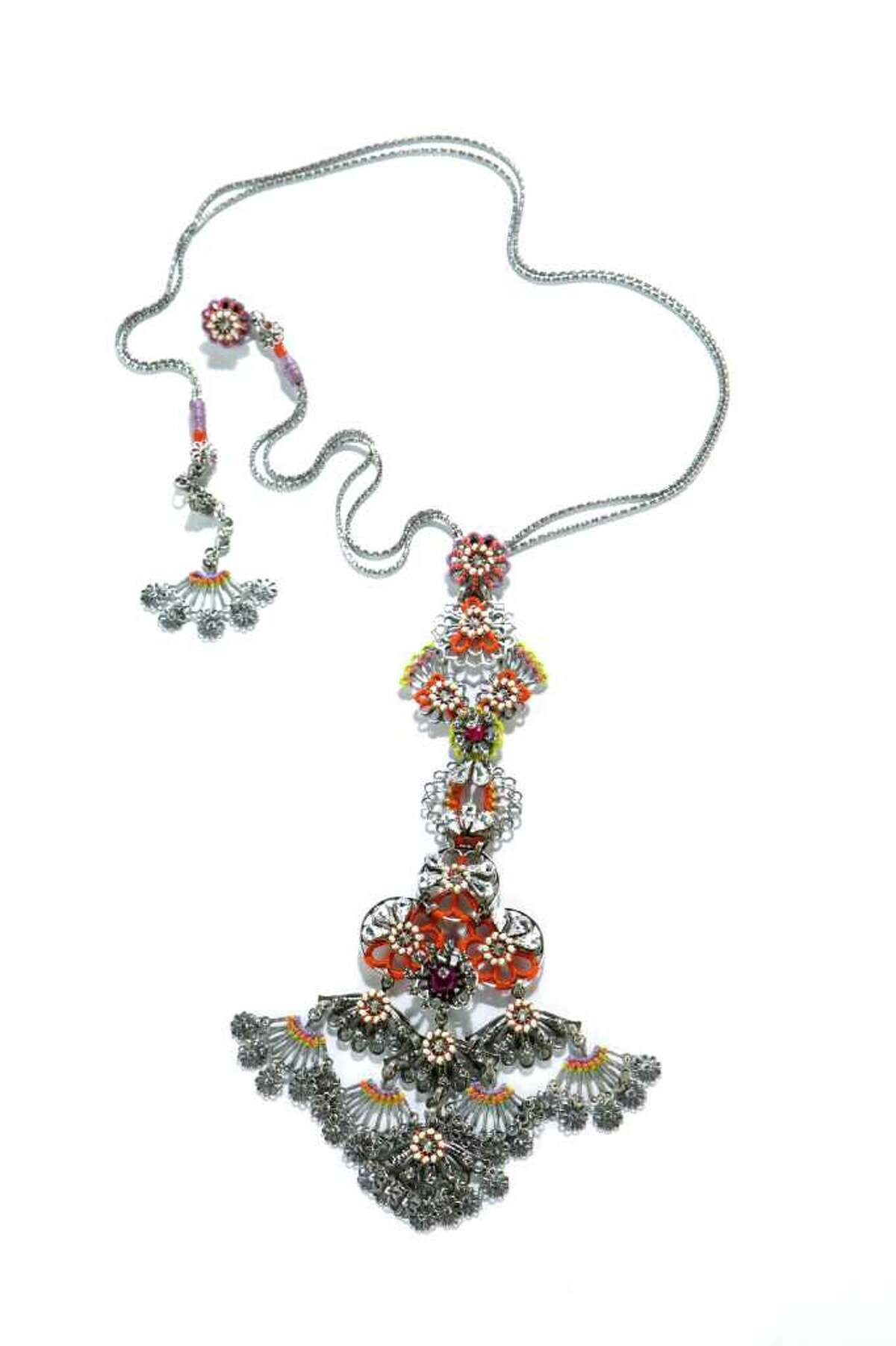 Miriam Haskell pendant, $660, Tootsies is shown in the Chronicle Studio Tuesday, June 7, 2011, in Houston. ( Brett Coomer / Houston Chronicle )