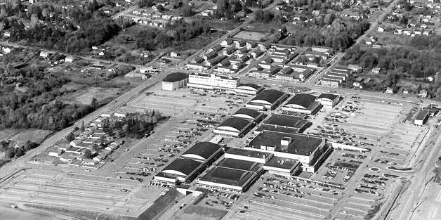 A closer picture of Northgate Mall and North Seattle, April 17, 1956. Photo: Seattlepi.com File