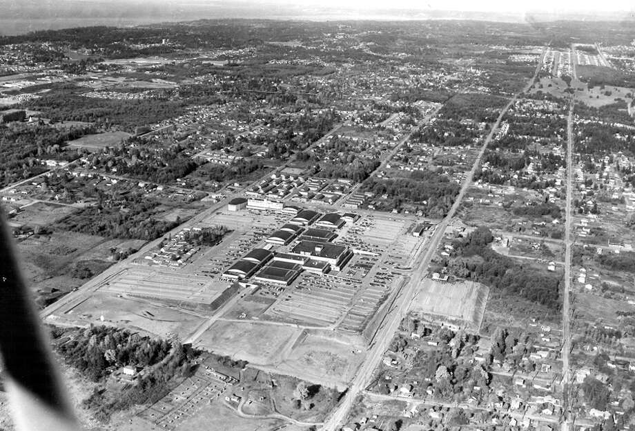 Northgate Mall and North Seattle, April 17, 1956. Photo: Seattlepi.com File