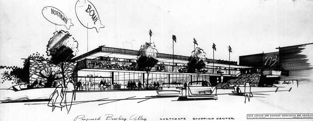 An April 1959 proposal for the Northgate Bowl, which was planned to be a 48-lane alley. Photo: Seattlepi.com File