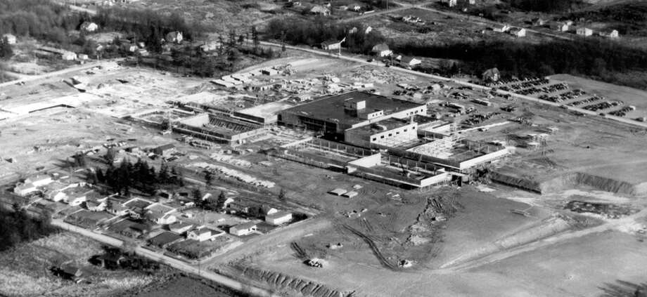 An closer aerial view of Northgate looking northeast, Dec. 6, 1949. Photo: Seattlepi.com File