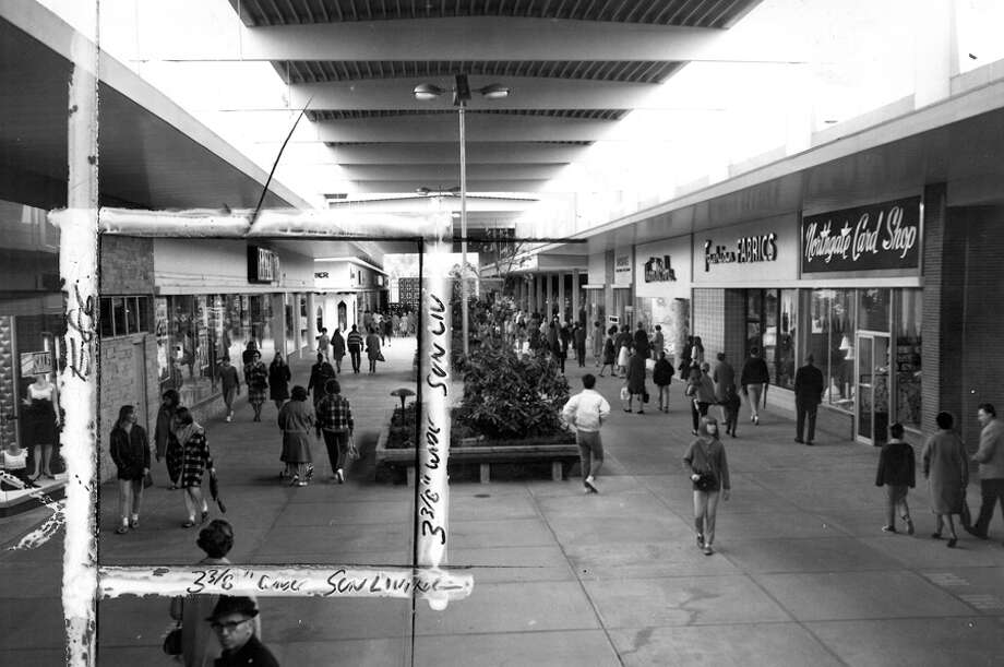 Northgate Mall, 1971. Marks were made that year by a P-I photo editor. Photo: Seattlepi.com File