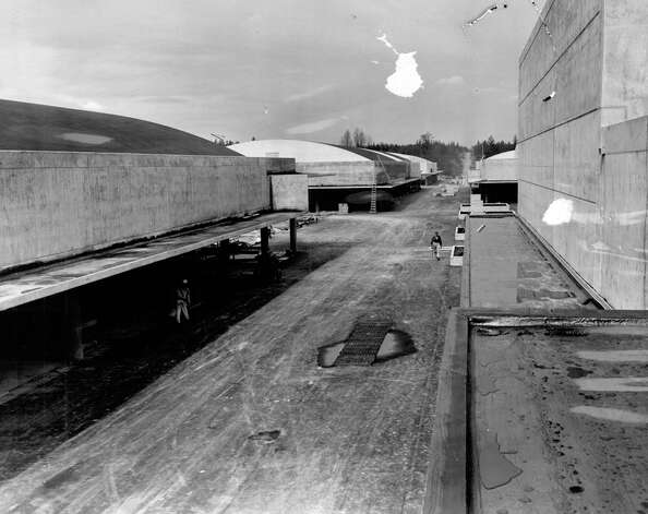 Northgate construction, April 1950. Photo: Seattlepi.com File