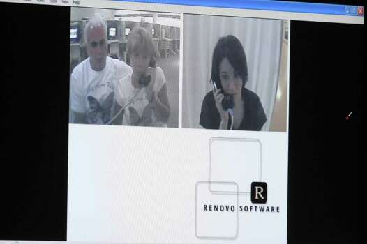 A video of a jailhouse conversation between George and Cindy Anthony and their daughter Casey Anthony is shown during final rebuttal in Casey Anthony's murder trial at the Orange County Courthouse in Orlando, Fla. on Monday, July 4, 2011.  Anthony has plead not guilty to first-degree murder in the death of her daughter, Caylee, and could face the death penalty if convicted of that charge.  (AP Photo/Red Huber, Pool) Photo: Red Huber