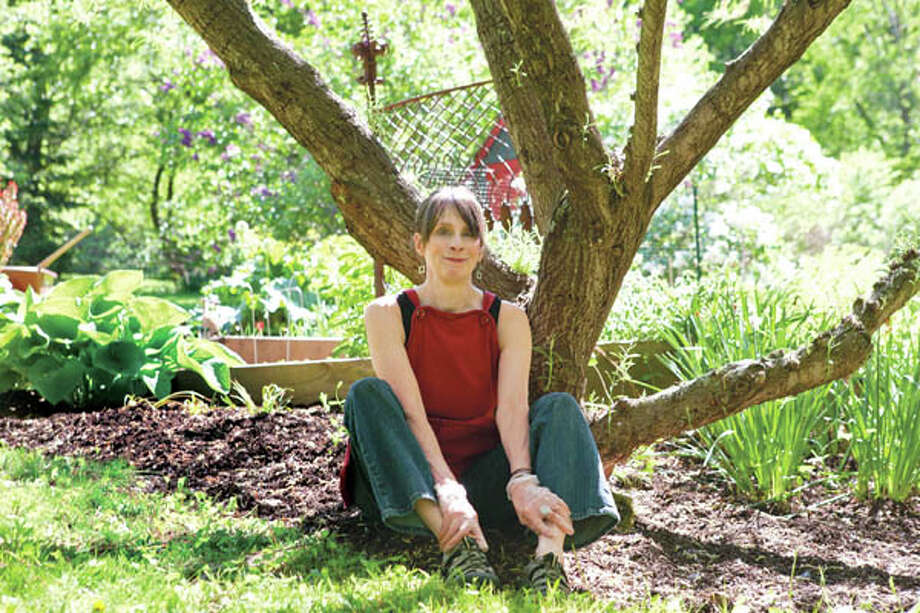 Margaret Roach at home in her garden. (Photo by Erica Berger)
