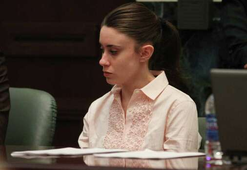 Casey Anthony waits in the courtroom for the jury to return with the verdict in her murder trial at the Orange County Courthouse Orlando, Fla. on Tuesday, July 5, 2011. Photo: AP
